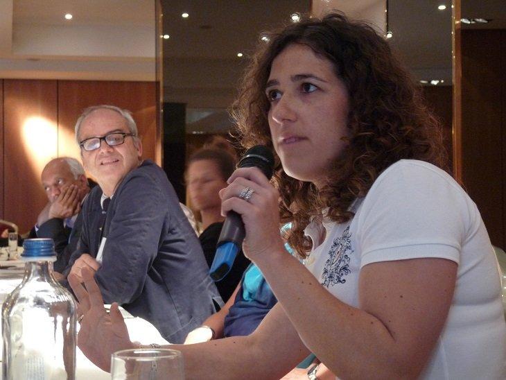 Dr Augusto B Federici and Joana da Silva Tavares from the Portuguese NMO