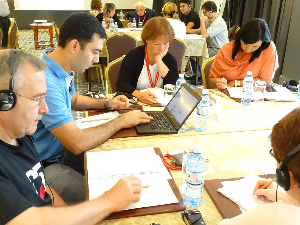 Participants during interactive sessions